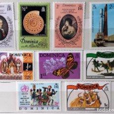 Sellos: DOMINICA, LOTE DE 9 SELLOS NUEVOS DE DOMINICA . Lote 100320051