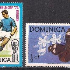Sellos: DOMINICA 1974-1975 - NUEVO. Lote 100418523