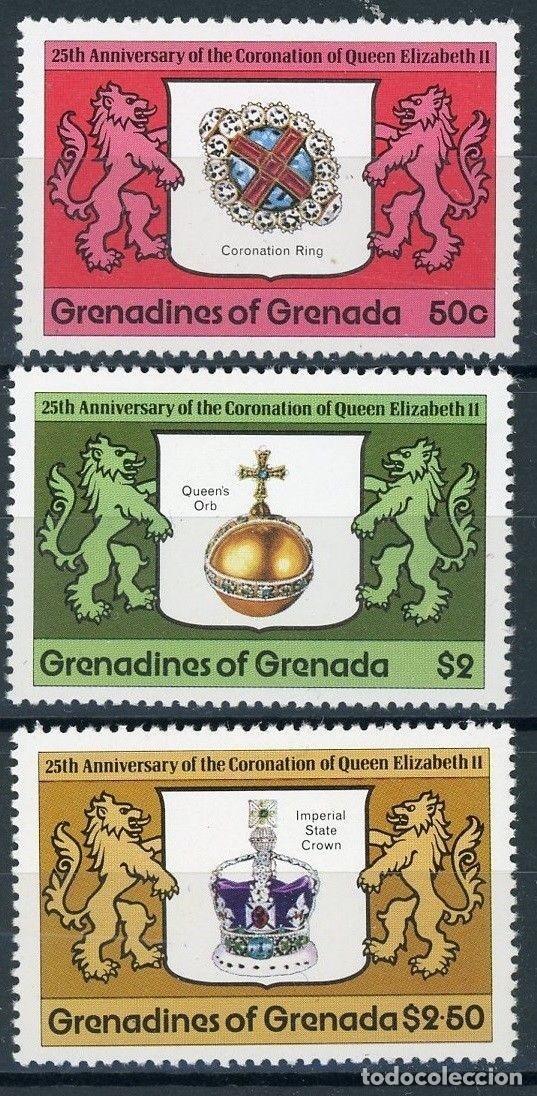 GRANADA & GRANADINAS 1978 IVERT 249/51 *** 25º ANIVERSARIO CORONACIÓN REINA ISABEL II (II) (Sellos - Extranjero - América - Otros paises)