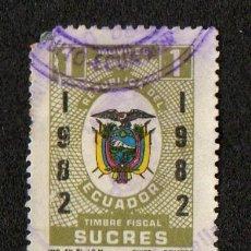 Sellos: SELLO FISCAL TIMBRE FISCAL ECUADOR. Lote 101027603