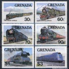 Sellos: GRANADA 1982 IVERT 1055/60 *** TRENES FAMOSOS - FERROCARRILES. Lote 101068615