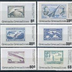 Sellos: GRANADA & GRANADINAS 1978 IVERT 234/9 * 50º ANIVERSARIO TRAVESIA ATLANTICO NORTE - CHARLES LINDBERGH. Lote 101310043