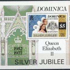 Sellos: DOMINICA 1977 HB IVERT 42 *** 25º ANIVERSARIO DE LA ASCENSIÓN AL TRONO DE ISABEL II - CASA REAL. Lote 102243911