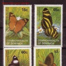 Sellos: DOMINICA 1982 IVERT 741/4 *** FAUNA - MARIPOSAS. Lote 102254855