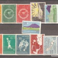 Sellos: ANTILLAS HOLANDESAS,1957,AÑO COMPLETO. Lote 102508735