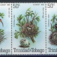 Sellos: TRINIDAD Y TOBAGO 1980 IVERT 413/7 *** FAUNA - AVES - IBIS ESCARLATA. Lote 103487015