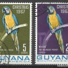 Sellos: 5836-SERIE COMPLETA NAVIDADES 1967 GUYANA AVES PÁJAROS 1967 Nº443/4.CHRISTMAS. Lote 103858467