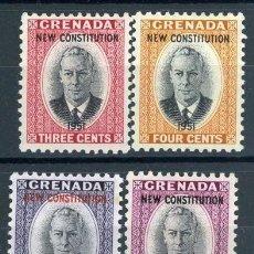 Sellos: GRANADA 1951 IVERT 157/60 * LA NUEVA CONSTITUCIÓN - JORGE VI. Lote 103952855