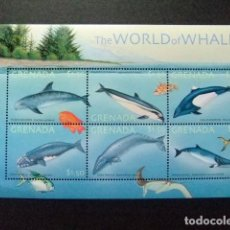 Sellos: GRENADE GRENADA 2001 FISH & MARINE LIFE THE WORLD OF WHALES YVERT 3966 / 71 ** MNH. Lote 104570107