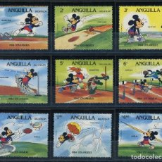 Sellos: ANGUILLA 1983 IVERT 515/23 * JUEGOS OLIMPICOS DE LOS ANGELES (I) - DEPORTES - DIBUJOS DE DISNEY . Lote 105481771