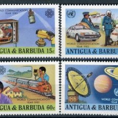 Sellos: ANTIGUA 1983 IVERT 693/6 * AÑO MUNDIAL DE LAS COMUNICACIONES. Lote 105804239