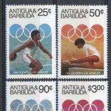 Sellos: ANTIGUA 1984 IVERT 731/4 * JUEGOS OLIMPICOS DE LOS ANGELES - DEPORTES. Lote 105805363