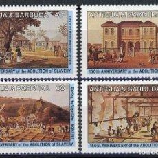Sellos: ANTIGUA 1984 IVERT 770/3 * 150º ANIVERSARIO DE LA ABOLICIÓN DE LA ESCLAVITUD. Lote 105805643