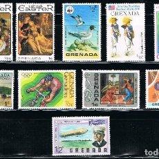 Sellos: GRENADA - LOTE DE 10 SELLOS - VARIOS (NUEVO) LOTE 7. Lote 107264855