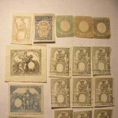 Sellos: LOTE SELLOS Y PAGOS DIFERENTES AÑOS 1881,1886,1977. Lote 107297271