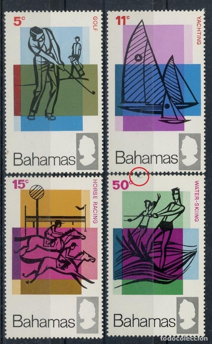 BAHAMAS 1968 IVERT 261/4 *** AÑO INTERNACIONAL DEL TURISMO - DEPORTES (Sellos - Extranjero - América - Otros paises)