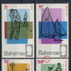 Sellos: BAHAMAS 1968 IVERT 261/4 *** AÑO INTERNACIONAL DEL TURISMO - DEPORTES. Lote 107572727