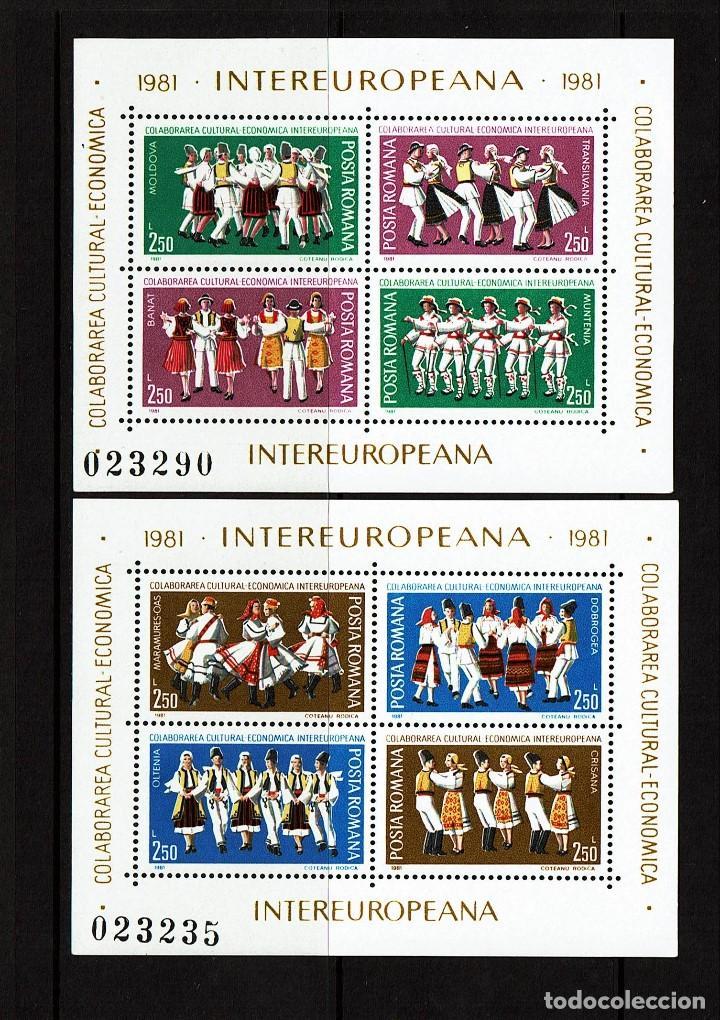 2 HOJITAS RUMANIA. COLABORACION CULTURAL ECONÓMICA INTEREUROPEA 1981. YVERT 148, 149. NUEVAS (Sellos - Temáticas - Varias)