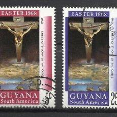 Sellos: 5924-SERIE COMPLETA NAVIDADES 1968 GUYANA Nº463/4 EASTER 1968. Lote 109181036