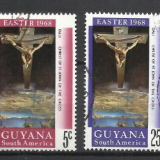 Sellos: 5923-SERIE COMPLETA NAVIDADES 1968 GUYANA Nº463/4 EASTER 1968. Lote 109181056