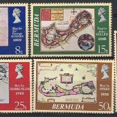 Sellos: BERMUDA 1978 IVERT 370/4 *** MAPAS ANTIGUOS DE BERMUDA. Lote 109574515
