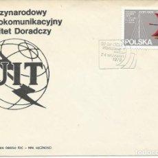 Sellos: 1979. POLONIA/POLAND. SOBRE PRIMER DIA/F.D.C. YVERT. 2473. RADIOCOMUNICACIÓN/RADIOCOMMUNICATION.. Lote 111388039
