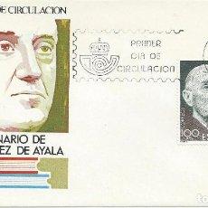 Sellos: 1980 BARCELONA. S.P.D./F.D.C. CENTº RAMÓN PÉREZ DE AYALA. ESCRITORES/WRITERS. LITERATURA/LITERATURE.. Lote 112029331