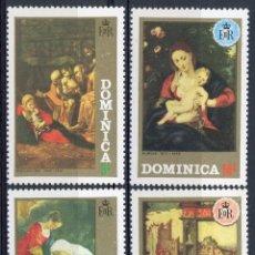 Sellos: DOMINICA 1972 IVERT 342/5 * NAVIDAD - PINTURA RELIGIOSA. Lote 112540379