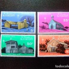 Sellos: GRENADINES OF ST VINCENT 1974 NAVIDAD NOEL CHRISTMAS YVERT Nº 69 / 72 ** MNH. Lote 112693103