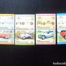 Sellos: BEQUIA GRENADINES OF ST VINCENT 1984 COCHES AUTOS VOITURES 8 SELLOS I YVERT 18 ** MNH. Lote 112857723