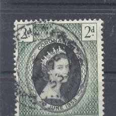 Sellos: JAMAICA,1953, CORONACION, USADO. Lote 112878643