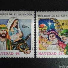 Sellos: EL SALVADOR. YVERT 1221/2. SERIE COMPLETA NUEVA SIN CHARNELA. NAVIDAD.. Lote 113037015