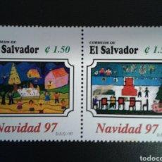 Sellos: EL SALVADOR. YVERT 1327/8. SERIE COMPLETA NUEVA SIN CHARNELA. NAVIDAD.. Lote 113037030