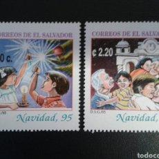 Sellos: EL SALVADOR. YVERT 1244/5. SERIE COMPLETA NUEVA SIN CHARNELA. NAVIDAD.. Lote 113037050