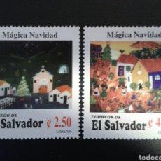 Sellos: EL SALVADOR. YVERT 1308/09. SERIE COMPLETA NUEVA SIN CHARNELA. NAVIDAD.. Lote 113037071