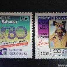 Sellos: EL SALVADOR. YVERT 1223/4. SERIE COMPLETA NUEVA SIN CHARNELA.. Lote 113037162