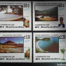 Sellos: EL SALVADOR. YVERT 1236/9. SERIE COMPLETA NUEVA SIN CHARNELA. TURISMO. Lote 113037214