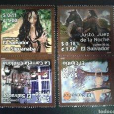 Sellos: EL SALVADOR. YVERT 1565/8. SERIE COMPLETA NUEVA SIN CHARNELA. LEYENDAS.. Lote 113037242