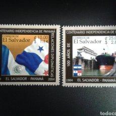 Sellos: EL SALVADOR. YVERT 1561/2. SERIE COMPLETA NUEVA SIN CHARNELA. RELACIONES CON PANAMÁ. BANDERAS. Lote 113037396