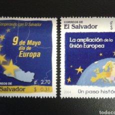 Sellos: EL SALVADOR. YVERT 1563/4. SERIE COMPLETA NUEVA SIN CHARNELA. AMPLIACIÓN DE LA UNIÓN EUROPEA. Lote 113037468