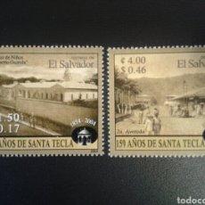 Sellos: EL SALVADOR. YVERT 1570/1. SERIE COMPLETA NUEVA SIN CHARNELA. CIUDAD DE SANTA TECLA. Lote 113037538