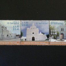 Sellos: EL SALVADOR. YVERT 1550/4. SERIE COMPLETA NUEVA SIN CHARNELA. IGLESIAS. Lote 113037792