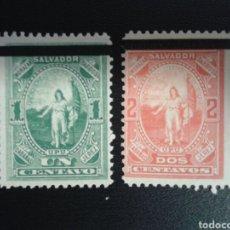 Sellos: EL SALVADOR. YVERT 20/1. SERIE COMPLETA SIN GOMA. SOBRECARGADOS. Lote 113038400
