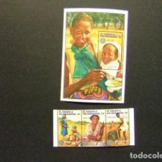 Sellos: ST. VINCENT THE GRENADINES 1995 50 º ANIVERSARIO FAO YVERT 2454 / 56 + BLOC 296 ** MNH. Lote 113650795