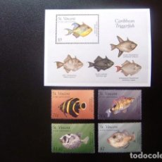 Sellos: ST. VINCENT THE GRENADINES 1996 FAUNA PECES FISH POISSONS YVERT 2887 /90 + BF 346 ** MNH. Lote 113880103