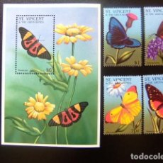 Sellos: ST. VINCENT THE GRENADINES 1996 FAUNA MARIPOSAS BUTTERFLIES PAPILLONS YVERT 2875 /78 + BF 343 ** MNH. Lote 113880879