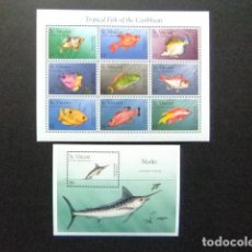 Sellos: ST. VINCENT THE GRENADINES 1996 FAUNA PECES FISH POISSONS YVERT 2836 /44 + BF 337 ** MNH. Lote 113882431