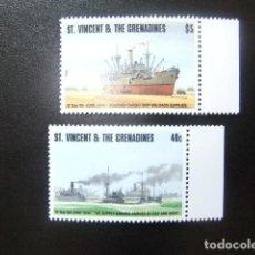 Sellos: ST. VINCENT THE GRENADINES 1994 50 º ANIV. DESENBARCO DE TOPAS ALIADAS EN NORMANDIA YVERT 2199 /00 *. Lote 113910299