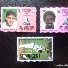 Sellos: ST. VINCENT THE GRENADINES 1994 CRICKET ENTRE INGLATERRA ET INDES YVERT 2201 /03 ** MNH. Lote 113911195