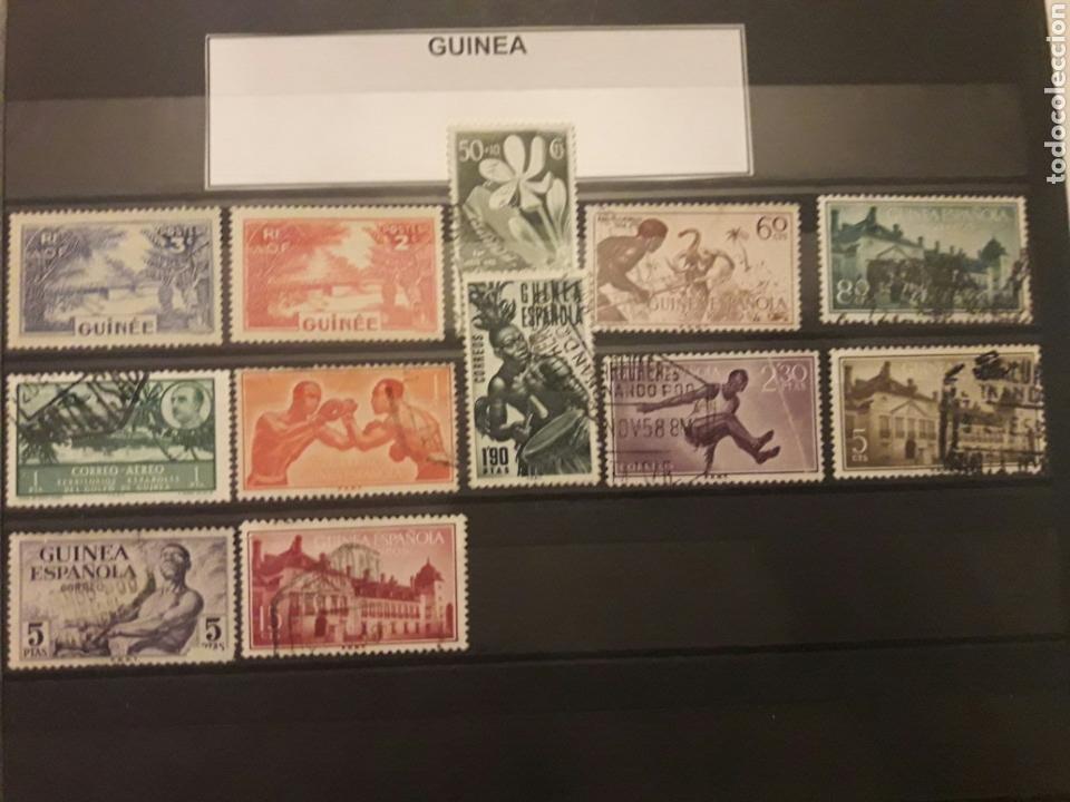 LOTE SELLOS GUINEA. ESPAÑA. (Sellos - Temáticas - Varias)